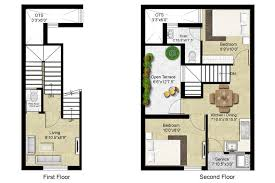 row home plans bright and modern 15 1500 sq ft row house plans in homeca