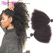 weave on short afro hair unprocessed brazilian virgin hair afro kinky curly hair 3 bundles