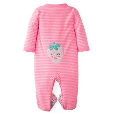 s newborn s footed pajamas strawberry