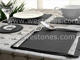 table mats and coasters slate placemats coasters dining tablemats westone slate