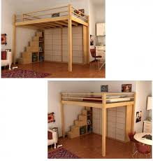 full size loft bed with desk underneath foter kiddos