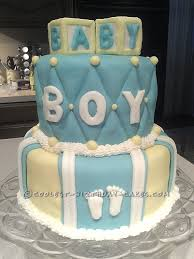 cool baby shower cake for a boy