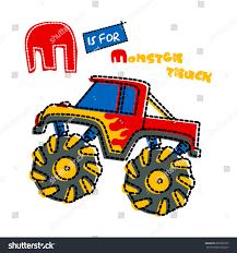 monster trucks clipart monster truck artwork children wear custom stock vector 692378707