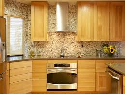 Mosaic Tiles Backsplash Kitchen Kitchen Extraordinary Kitchen Backsplash Ideas With Oak Cabinets