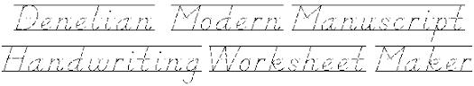 handwriting practice d u0027nelian style
