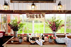 Country Chic Wedding Sweets Table At Country Chic Wedding Reception In Jackson Wyoming