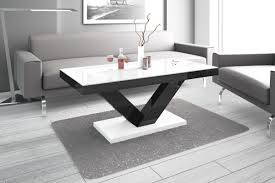 Wohnzimmer Tisch Design Couchtisch Hv 888 Weiß Schwarz Hochglanz Highgloss Tisch