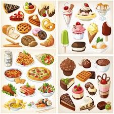 clipart cuisine a collection of four beautiful vector food clip sets with
