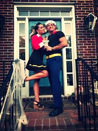 Popeye Olive Halloween Costume Colored Electrical Tape Yellow Duct Tape Owned