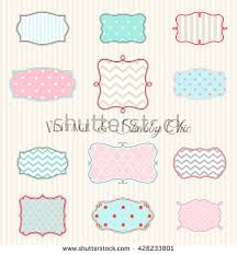 collection vintage shabby chic frames hand stock vector 428233801