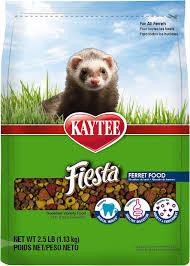 kaytee fiesta gourmet variety diet with dha ferret food 2 5 lb