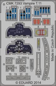 T 72 Interior Vampire T 11 Interior Set 1 72 Set For Airfix Kit Cmk 7293