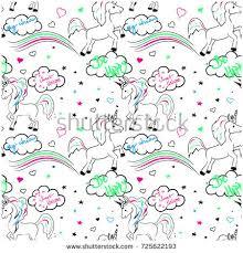 vector designs children unicorns vector stock vector