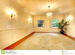 empty luxury antique large dining room interior with white walls