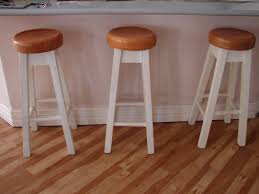 Wooden Breakfast Bar Stool Furniture White Wooden With Wooden Breakfast Bar Stools For