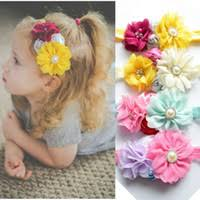 Polyester Flowers - hand made flower baby headbands price comparison buy