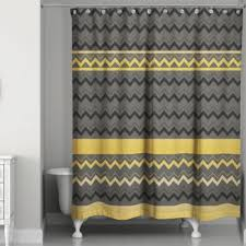 Grey And Yellow Shower Curtains Buy Black Yellow Shower Curtain From Bed Bath Beyond