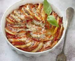 cuisiner des tomates s h s gratin de pommes de terre et de tomates recette de gratin de