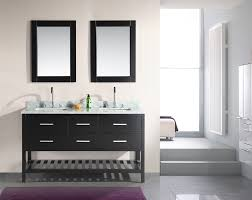 adorna 60 inch double sink bathroom vanity set espresso finish