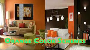 orange livingroom color schemes interior decorating with orange colors