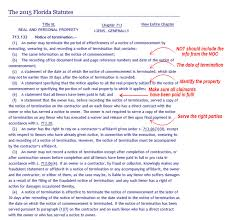 Sample Notice Of Termination Of Contract notice of termination of notice of commencement ncs credit