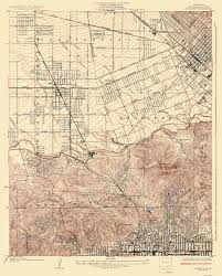 map of burbank ca topographical map burbank california 1926