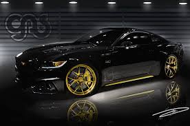 New Mustang Black Two Modified 2015 Ford Mustang Coupes Head To Sema