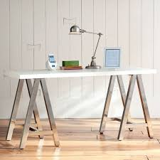 customize it simple a frame desk white top with galvanized legs
