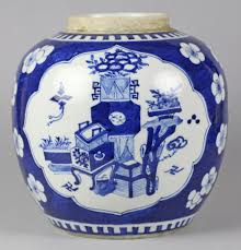 kangxi blue u0026 white ginger jar or1209012 second hand antiques
