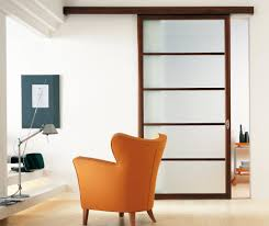 contemporary interior glass sliding door and room divider design