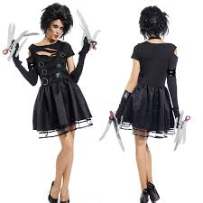 amazon women s halloween costumes 1980s movie womens miss edward scissorhands halloween fancy