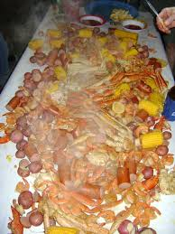 seafood boil for an outerbanks thanksgiving meal my