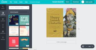 Satyanarayan Pooja Invitation Card Design Ganesh Chaturthi Invitation Cards For Free Canva