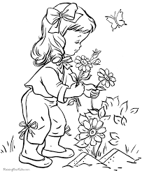 colouring pages kids u2013 flowers u2013 blog