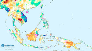 Laos World Map by Southeast Asia U0026 The Pacific Water Surpluses In Laos Vietnam