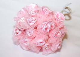 satin roses pink organza satin bud with pearl 108 flowers jenlyfavors