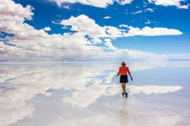 the largest mirror on earth salar de uyuni bolivia suitcase and i
