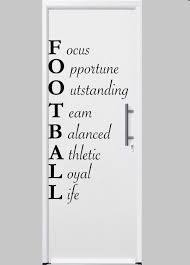 football acrostic wall decal football decor football wall