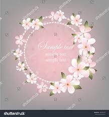 Floral Invitation Card Designs Wedding Card Beautiful Floral Invitation Card Stock Vector