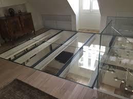 escalier garde corps verre steel raised access floor glass indoor plancher verre extra