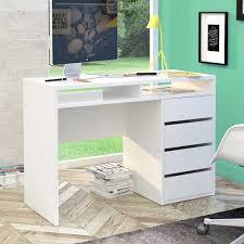Schreibtisch Computer Computer Schreibtisch Manadoza In Weiß Hochglanz Pharao24 De