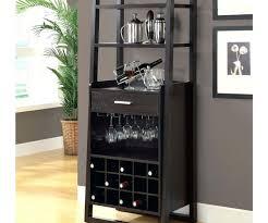 salient black metal under cabinet wine glass rack storage