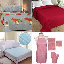 set of 10 pc bedsheet set double bed ac blanket kitchen linen