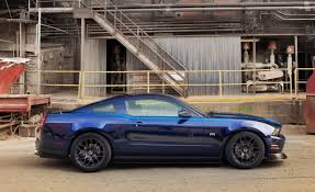 Blue Mustang Black Stripes Charcoal Rtr Wheels On A Kona Blue Without The Rtr Package