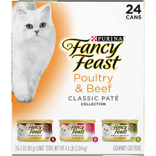 purina fancy feast classic poultry beef collection cat food 24 3