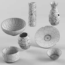Rock Vases Broken Vases 3d Model Cgtrader
