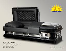 black caskets black stallion