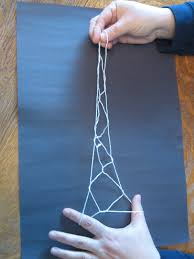 almost unschoolers the eiffel tower string trick step by step