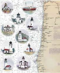 map of oregon lighthouses products