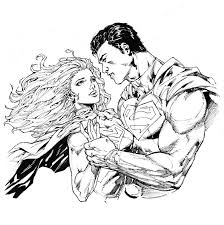 14 images of superman and supergirl coloring pages supergirl and